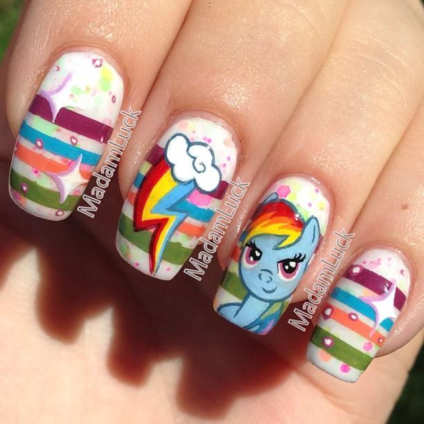 Rainbow Dash Nail Art by MadamLuck on DeviantArt