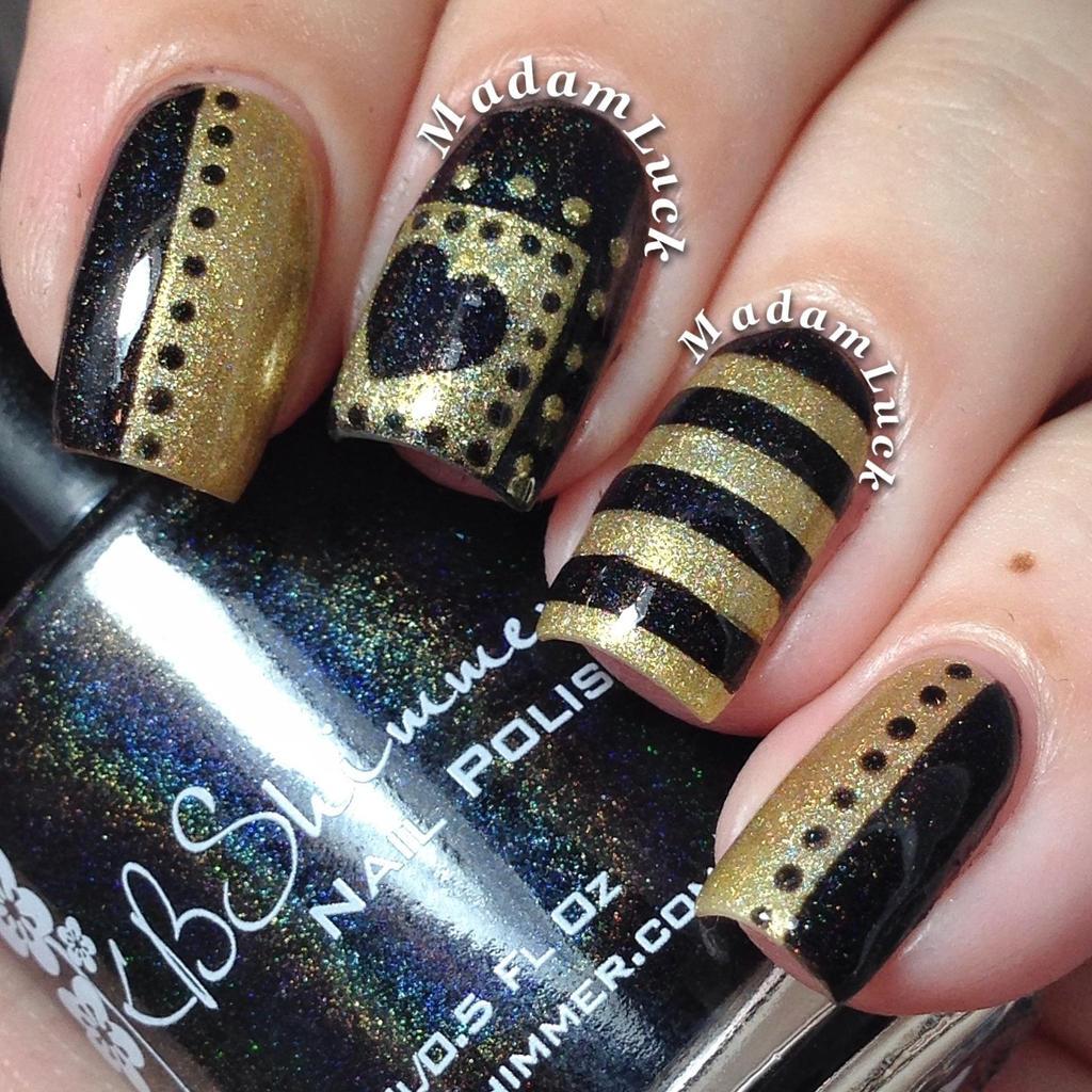 Gold on black by MadamLuck