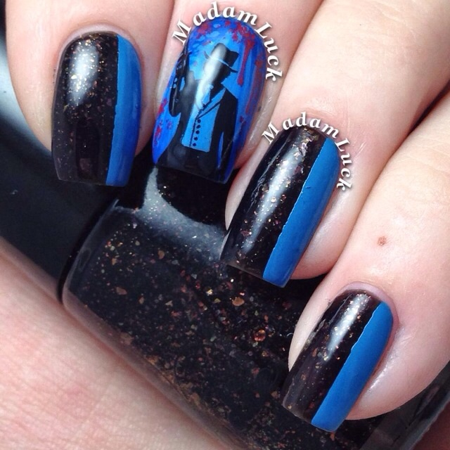 Gangster nail art by MadamLuck