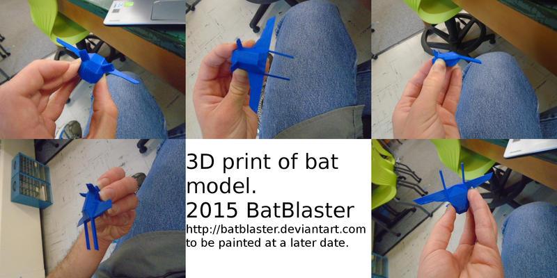 3D print of Bat Model by BatBlaster