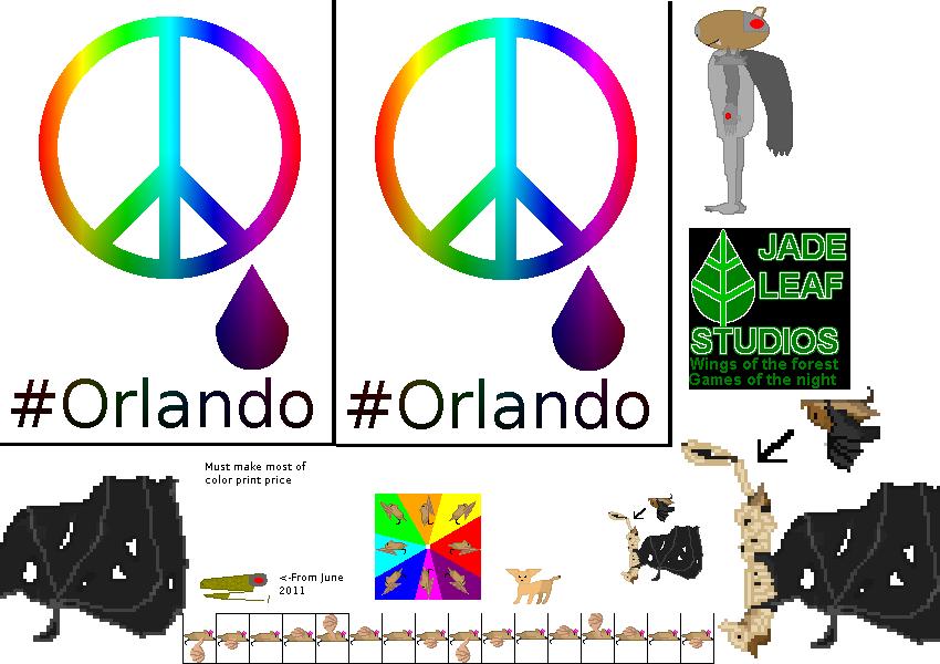 Orlando Print by BatBlaster