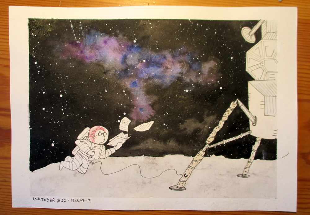 Inktober #22 The Asteroids-watcher by JapanTama