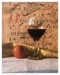 Wine Glass and Manuscript