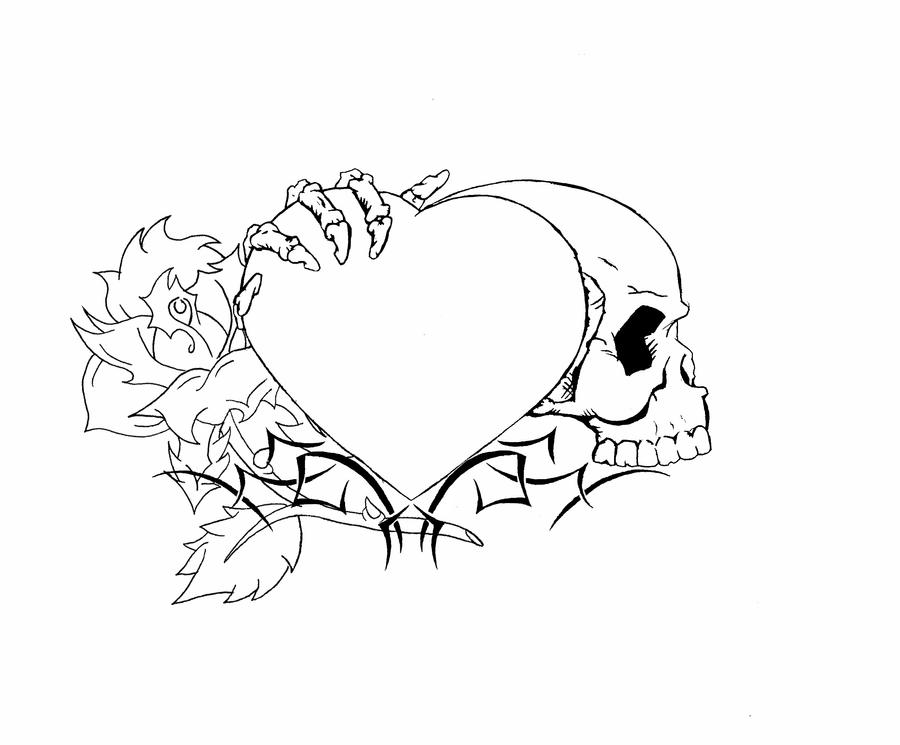 Heart Tattoo Designs to Draw Heart Tattoo Design Finished