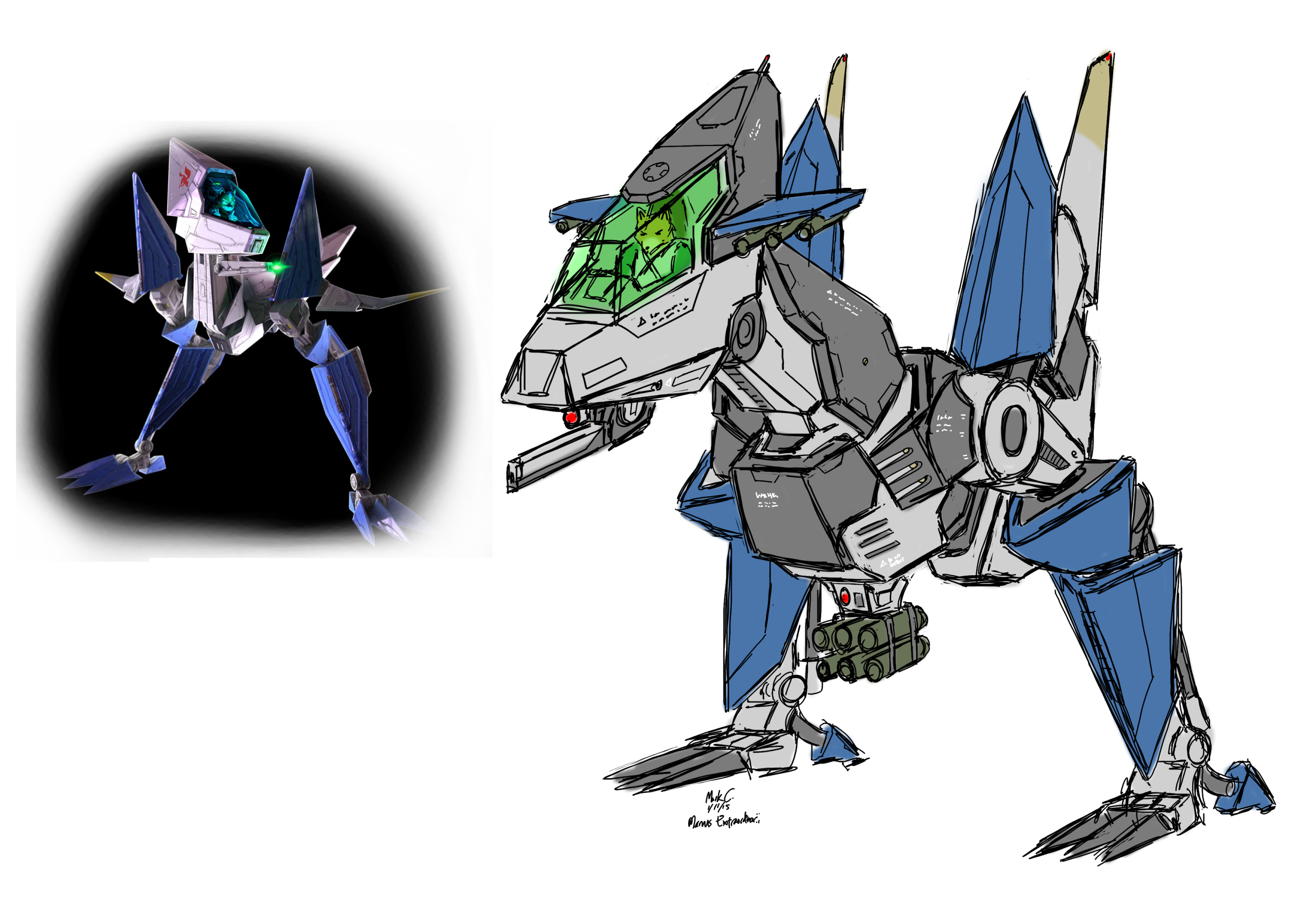 Star Fox Zero Walker Concept By Manusextraordinarii On