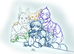 Star Fox Team (Sketch)