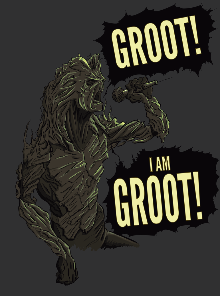 GROOT! I AM GROOT! by MoustafaChamli