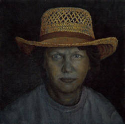 Woman in hat by Bill Root