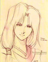 F.SKETCH:Hotohori x eyes2blues by AngelsTale
