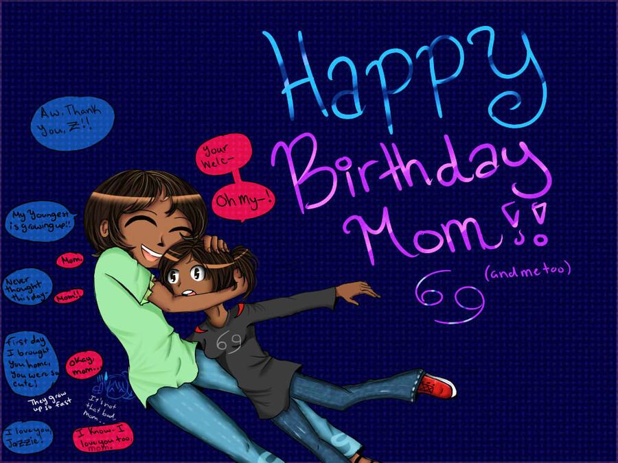 Birthday drawing for mom :D by KawaiiAngel23