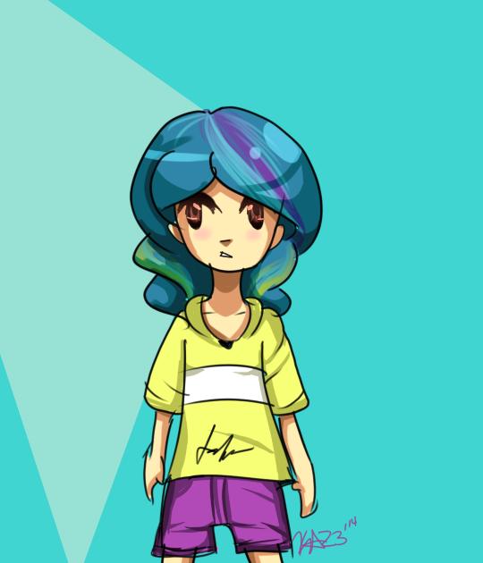 blue-haired girl by KawaiiAngel23