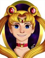 Sailor Moon Headshot by Miss-Jazzmatazz