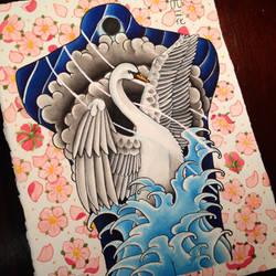 Swan Backpiece Design by JopieLee