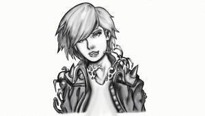 Gwenom ( black and white )