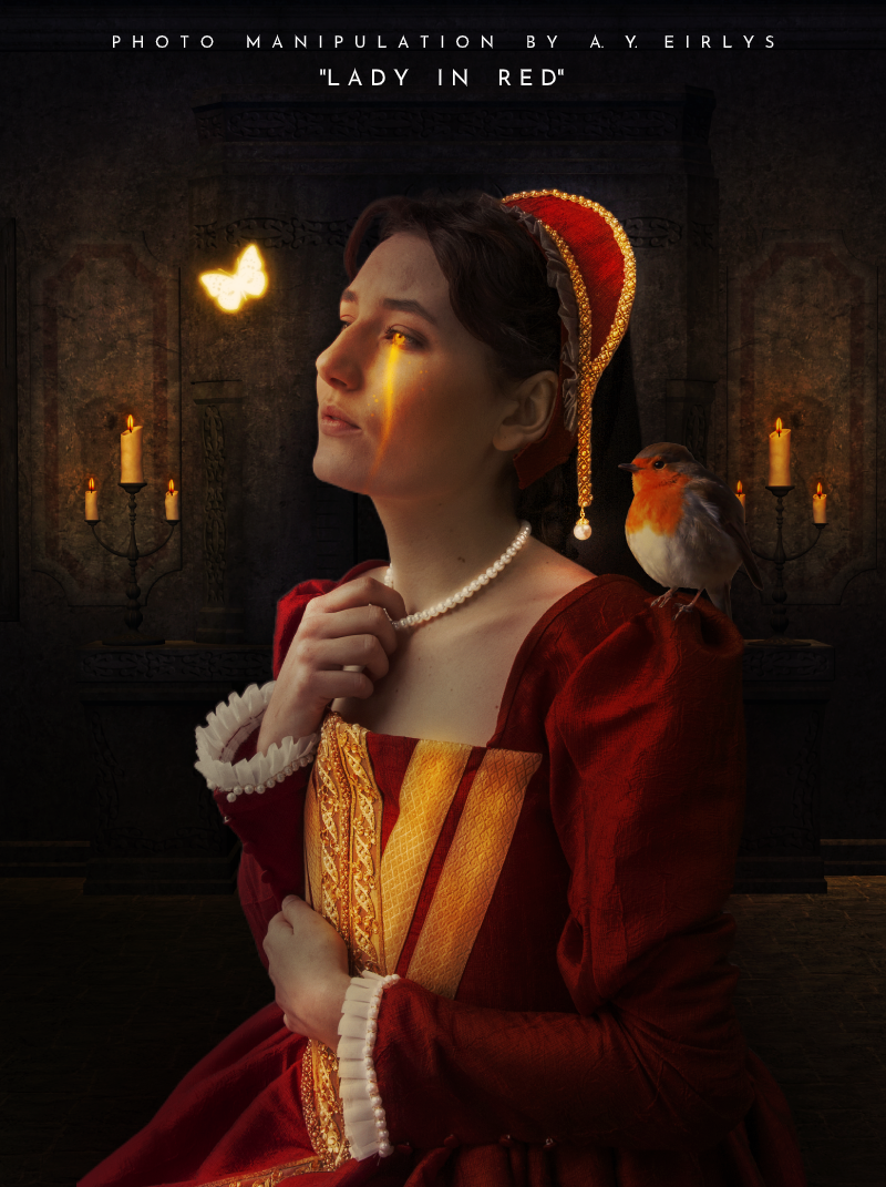 Lady in red   A photo manipulation