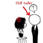 Jeff and Slender Man by ForeverTheAwesomest