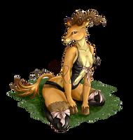 Babette the Gazelle Lady (underwear version) by RoChou