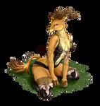 Babette the Gazelle Lady (underwear version)