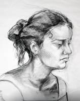 Life Drawing Portrait by RoChou