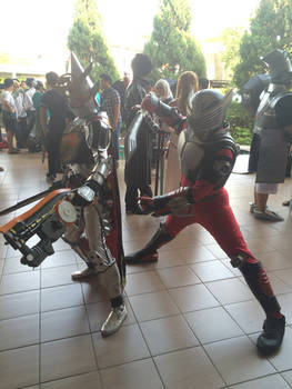 Kamen Riders Gaim and Ryuuki