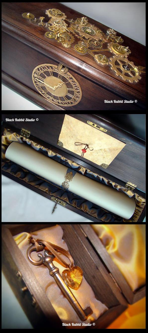 Steampunk box by YellowRavenInk