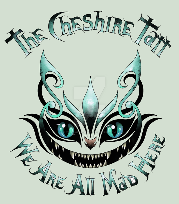 the cheshire tatt we are all mad here by yellowravenink
