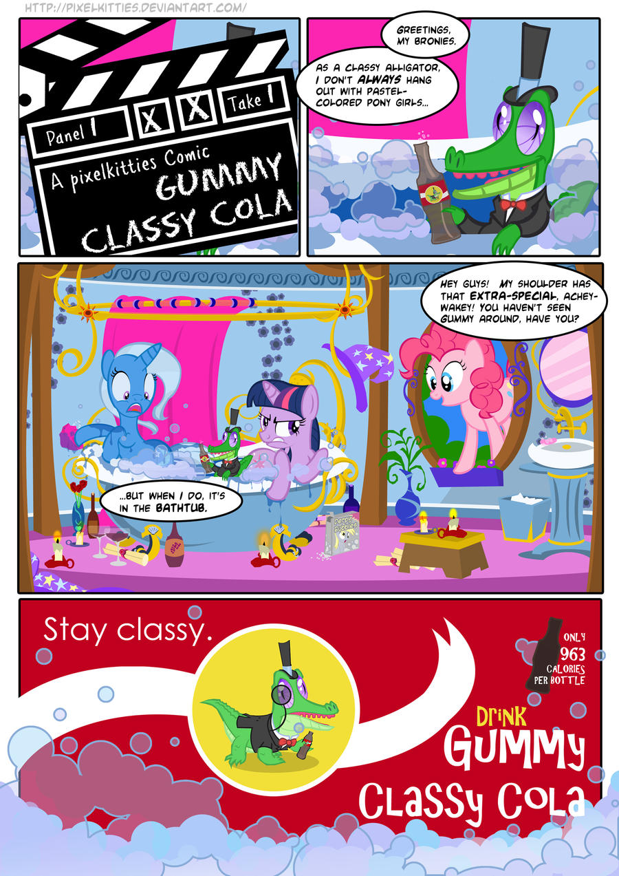 Gummy Classy Cola Comic by PixelKitties