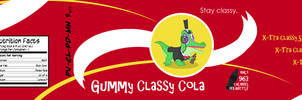 Gummy Classy Cola Label