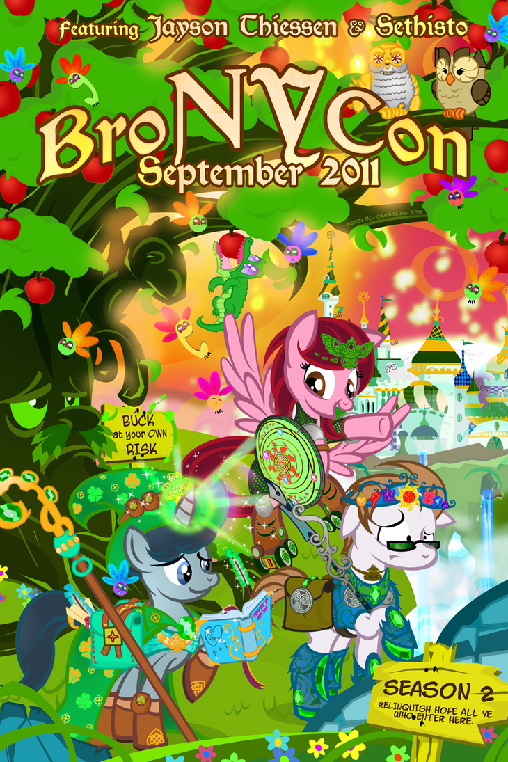 pixelkitties broNYcon poster by PixelKitties