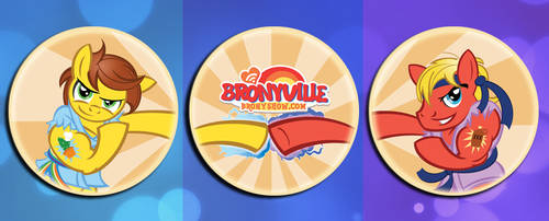 Bronyville Fundraising Buttons by PixelKitties