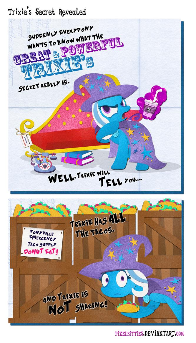 Trixie's Secret Revealed by PixelKitties