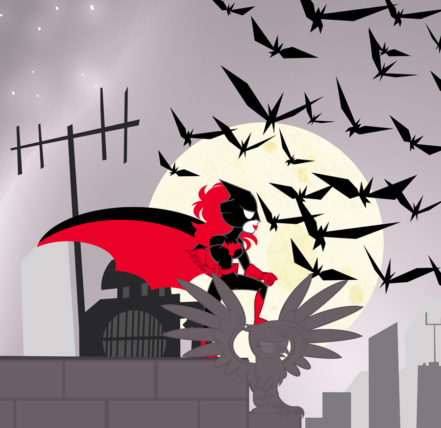 Super Best Friends Forever Batwoman by PixelKitties