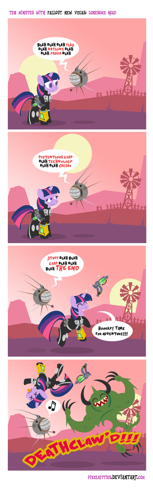 Fallout Lonesome Road Comic by PixelKitties
