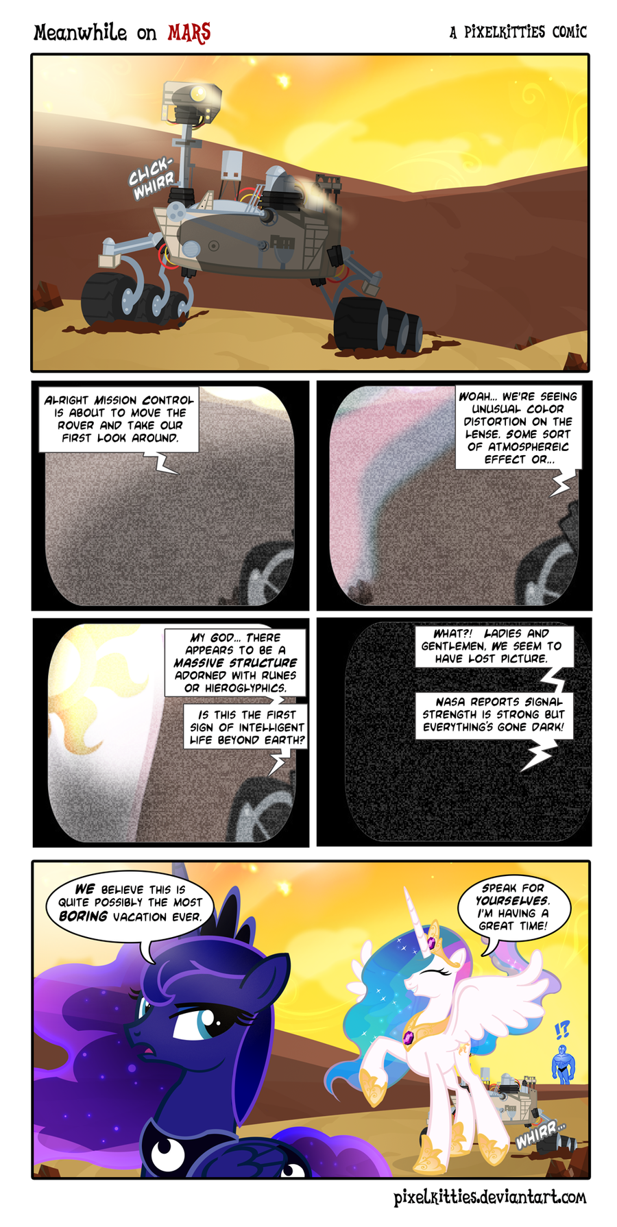 Meanwhile On Mars comic by PixelKitties