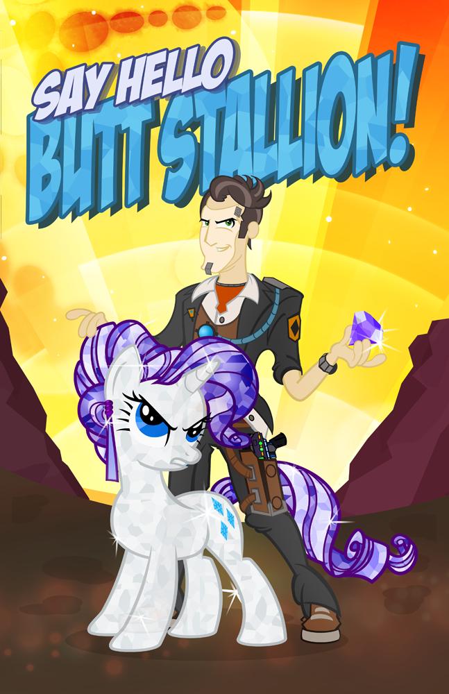 Butt Stallion Revised by PixelKitties