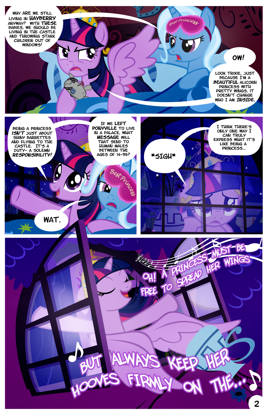 Ponyville Library After Dark Page 2 by PixelKitties