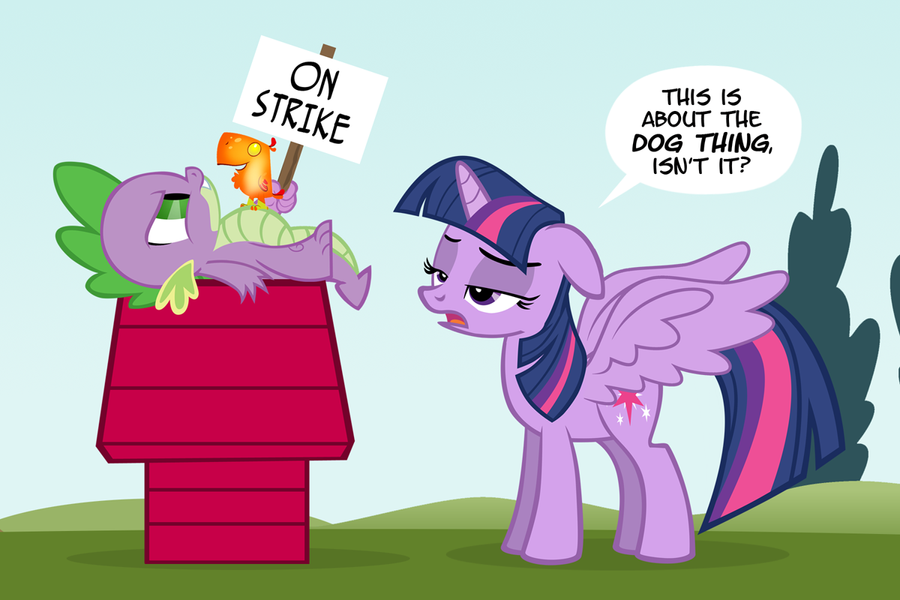 Spike on Strike by PixelKitties