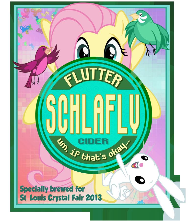 Flutter Schlafly Label by PixelKitties