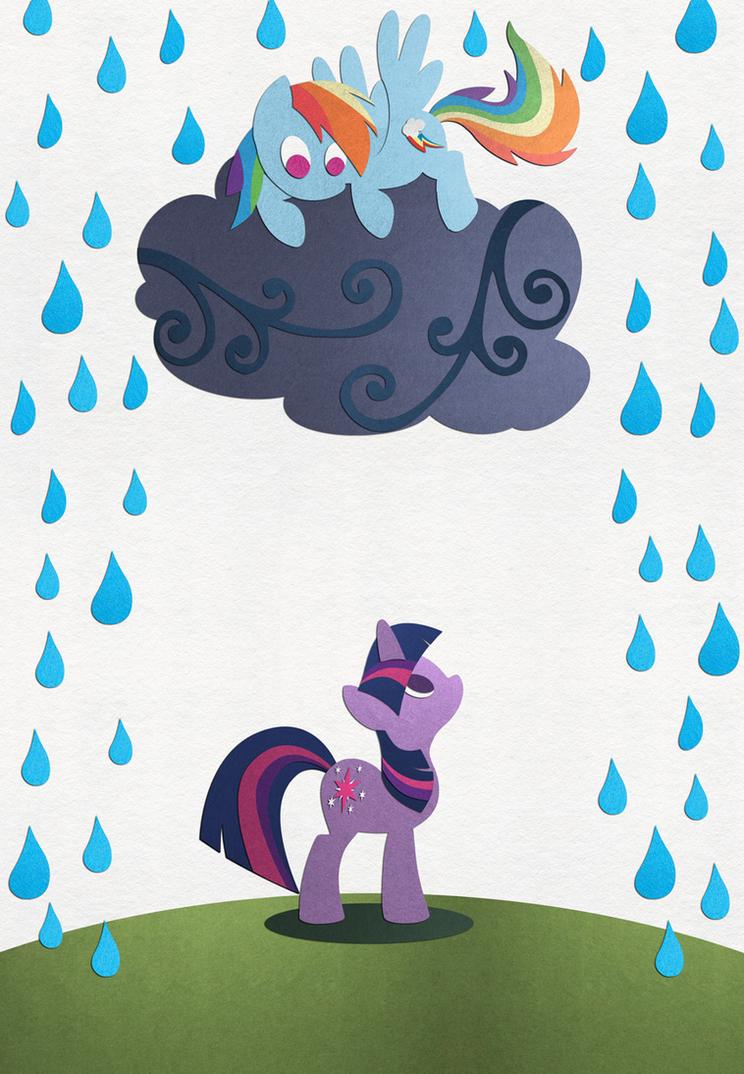 Rainy Day Friends by PixelKitties