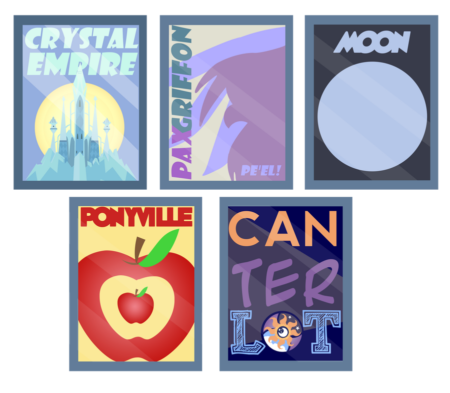 Equestria Travel Posters by PixelKitties