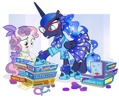Fifties Princess Luna and Sweetie Belle for JJ