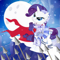 Rarity Wearing Armor 2014 by PixelKitties