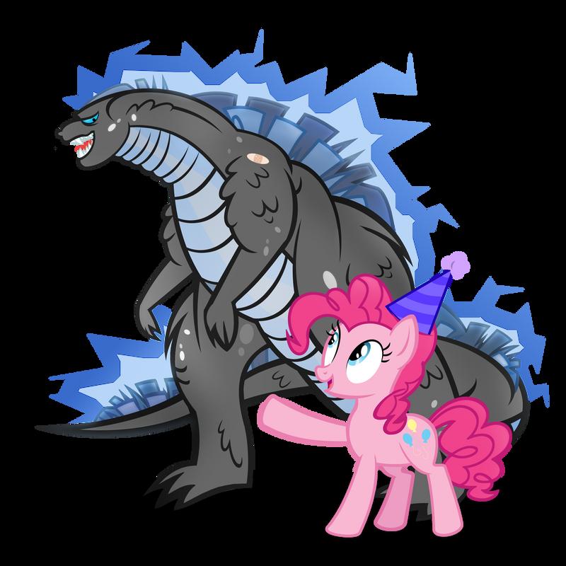 Pinkie and Godzilla- Adventure Bros
