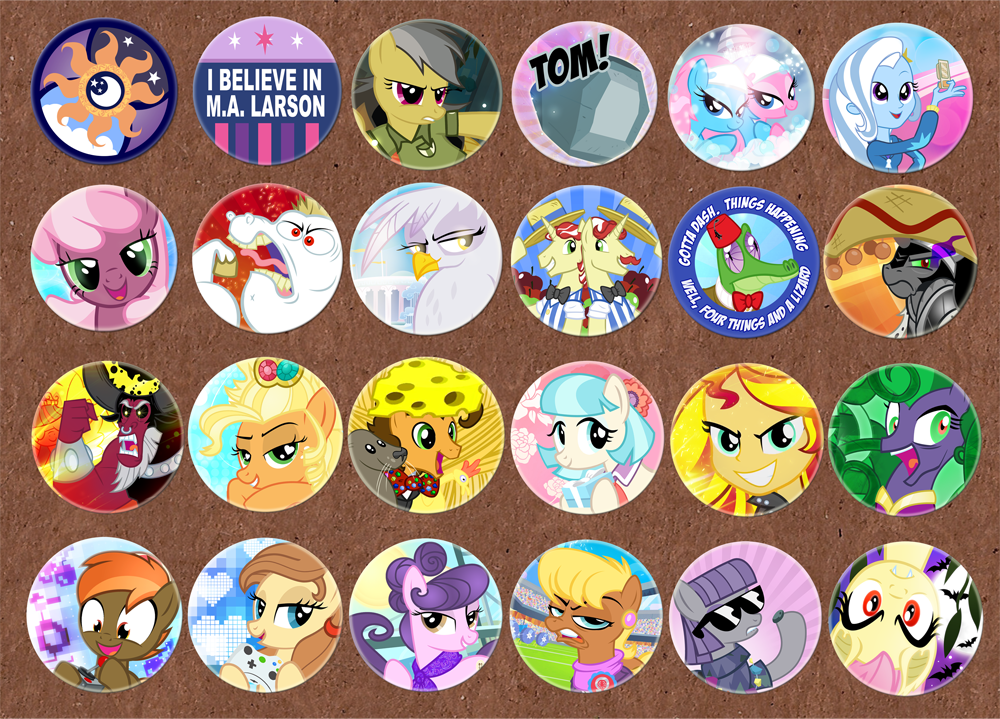Trotcon Buttons02 by PixelKitties