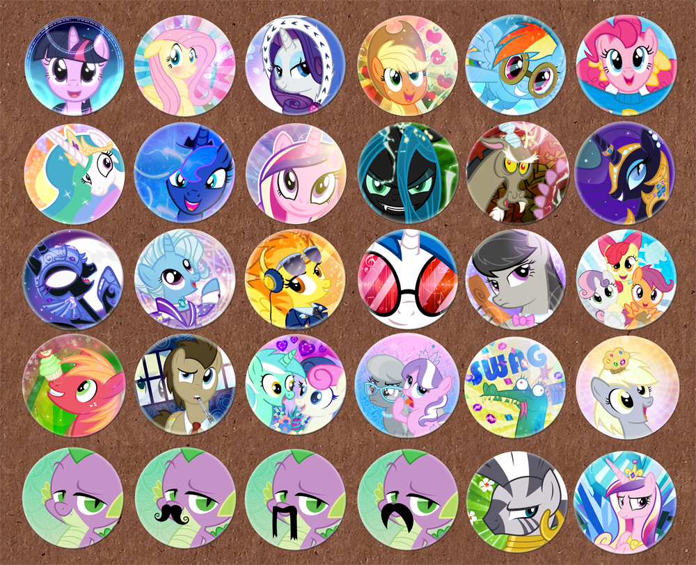 Trotcon Buttons01 by PixelKitties