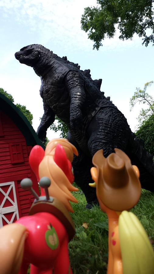 GodzillaApple by PixelKitties