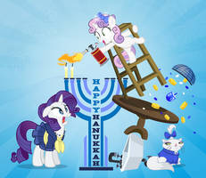 Rarity Hanukkah 2014 by PixelKitties