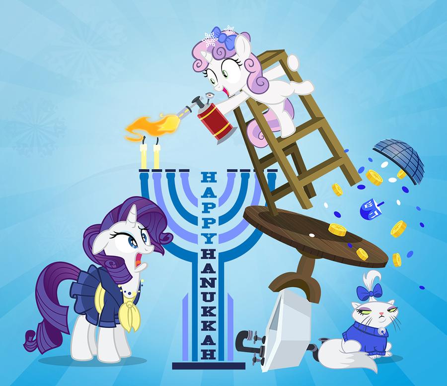 Rarity Hanukkah 2014 by PixelKitties