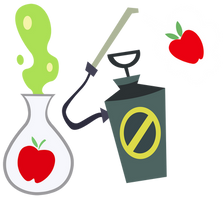 Applebloom's Toxic Cutie Marks by PixelKitties