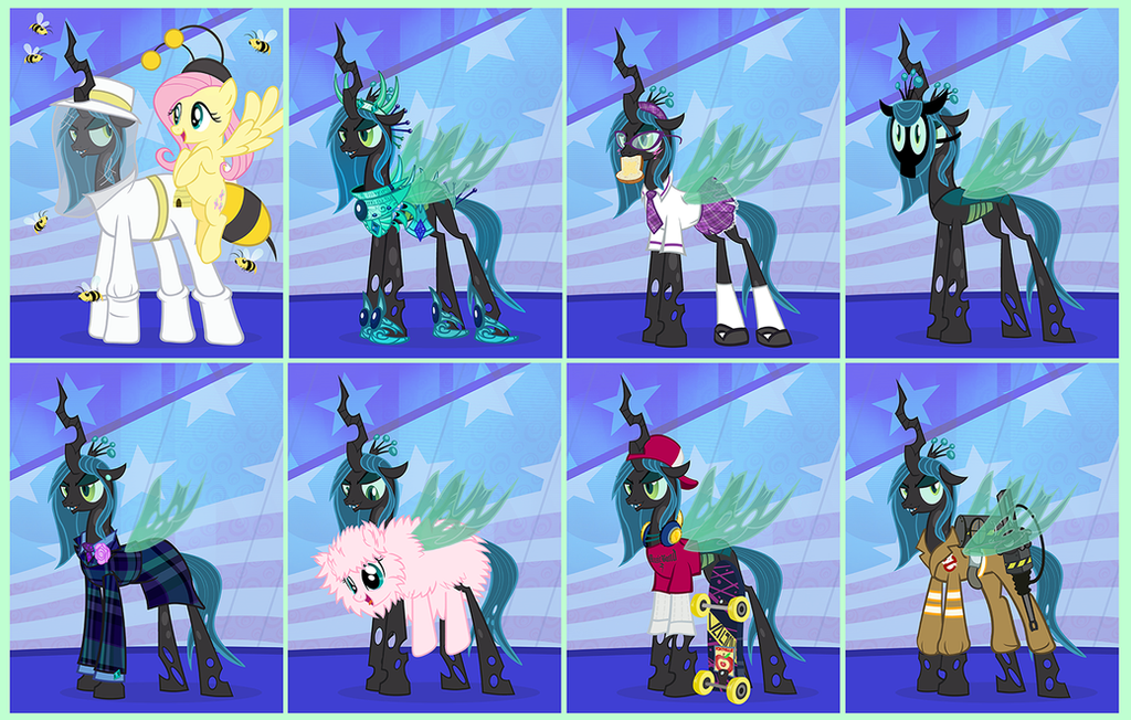 The Many Looks of Queen Chrysalis